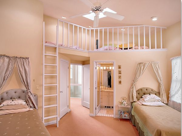 The bedroom of teenage girls interior home design for Home interior picture little girl