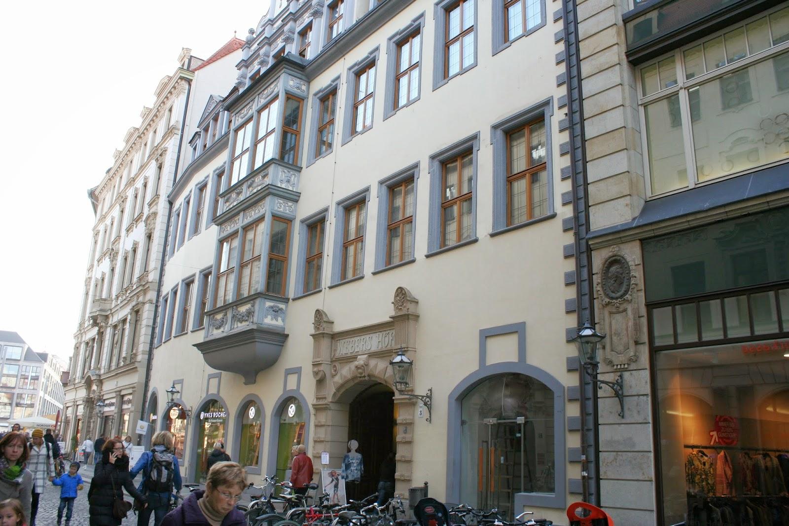 Hainstraße in Richtung Markt mit Barthels Hof