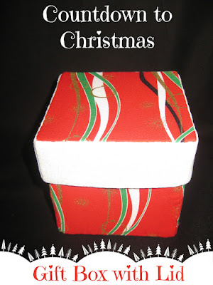 Countdown to Christmas Gift Box with Lid