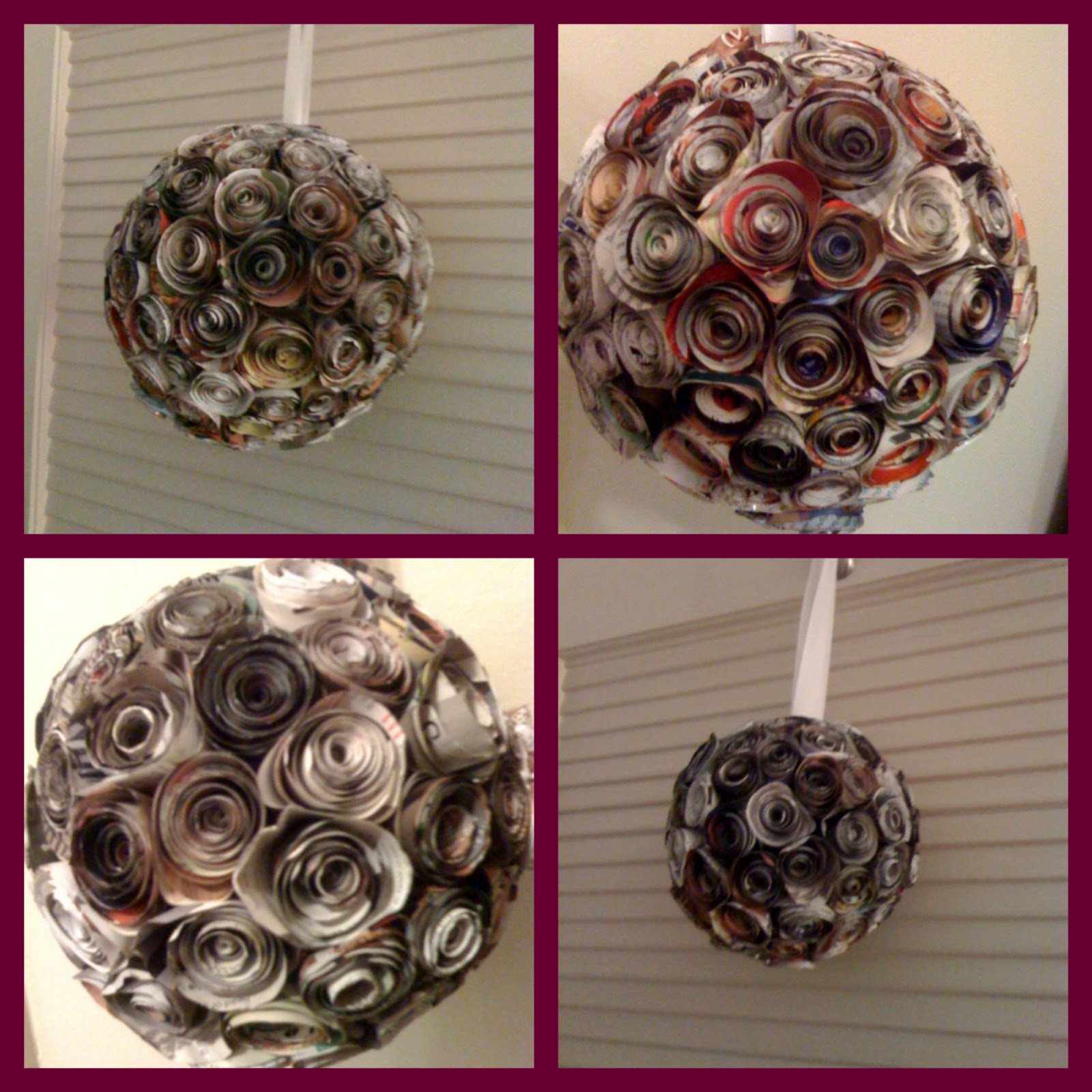 Decorative Items With Paper Watts Happening Decorative Ball With Paper Flowers