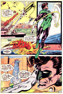 Green Lantern Green Arrow #84 dc comic book page art by Neal Adams