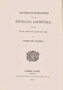 Proyecto de Constitución para la República Argentina (Pedro de Angelis)