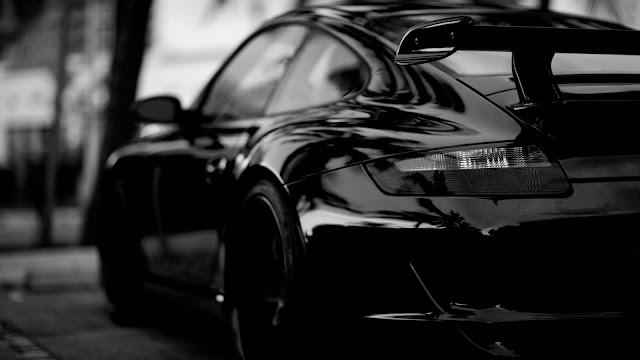 Porsche in Black HD Wallpaper
