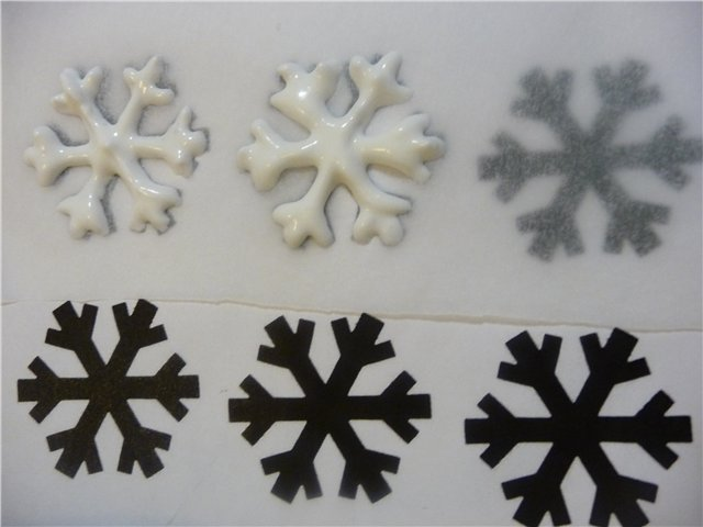 Украшения из мастики. Как сделать #снежинки для новогоднего торта - Лепка.рф