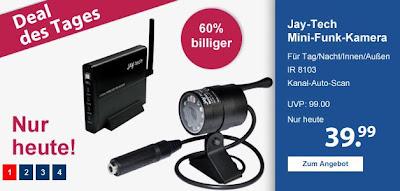 Infrarotkamera plus Drahtlosempfänger Jay-tech IR-8103 bei Schlecker für 41,98 Euro