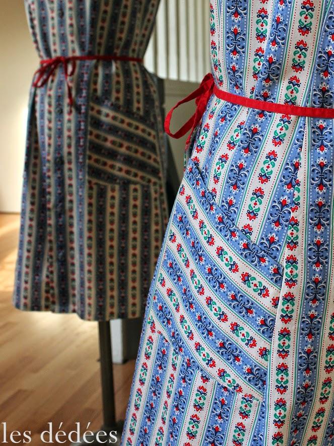 les dedees vintage recup creations petite robe d 39 ete vintage a rayures by ben. Black Bedroom Furniture Sets. Home Design Ideas