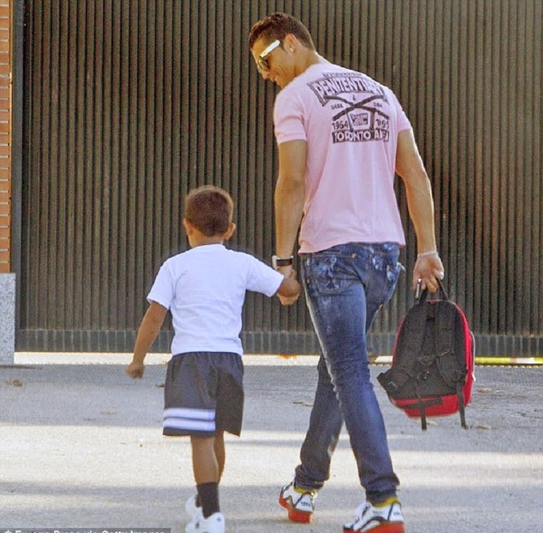 Footballer Cristiano Ronaldo brought his four-year-old son Cristiano Ronaldo Jr.