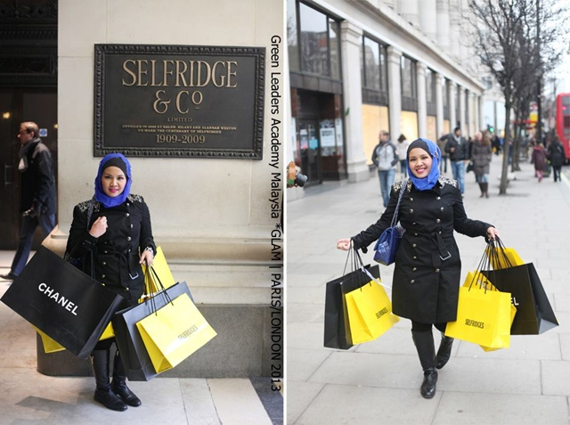 Hanis Haizi, Selfridge, London, Oxford Street, shopping