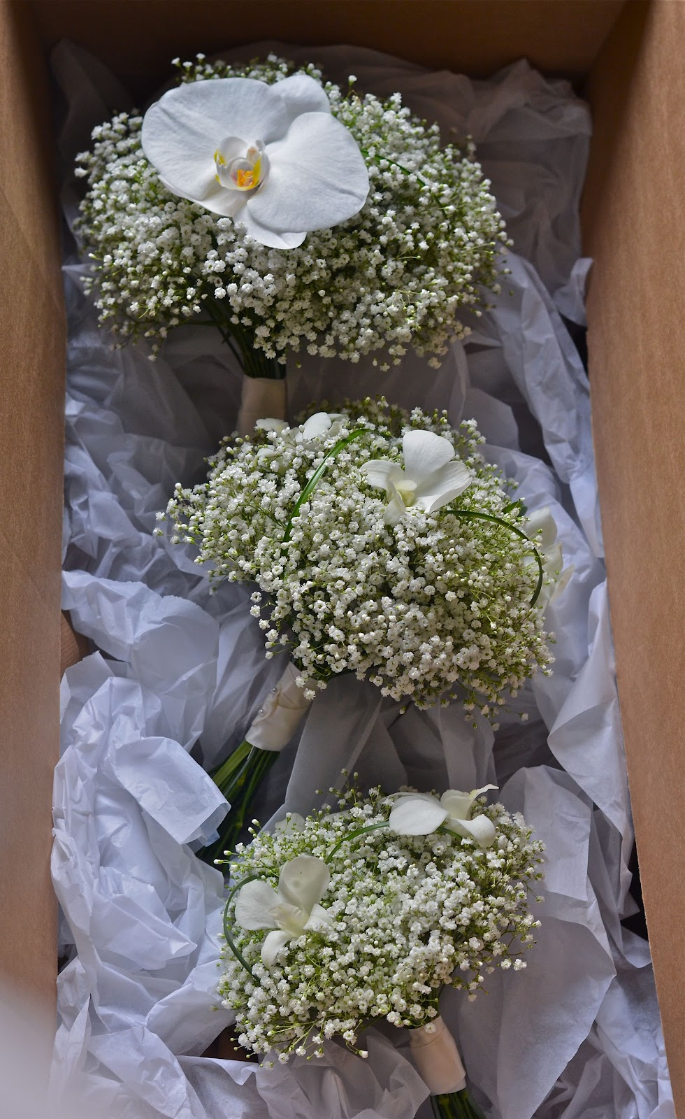 Sarahs Orchid And Gypsophila Wedding Flowers