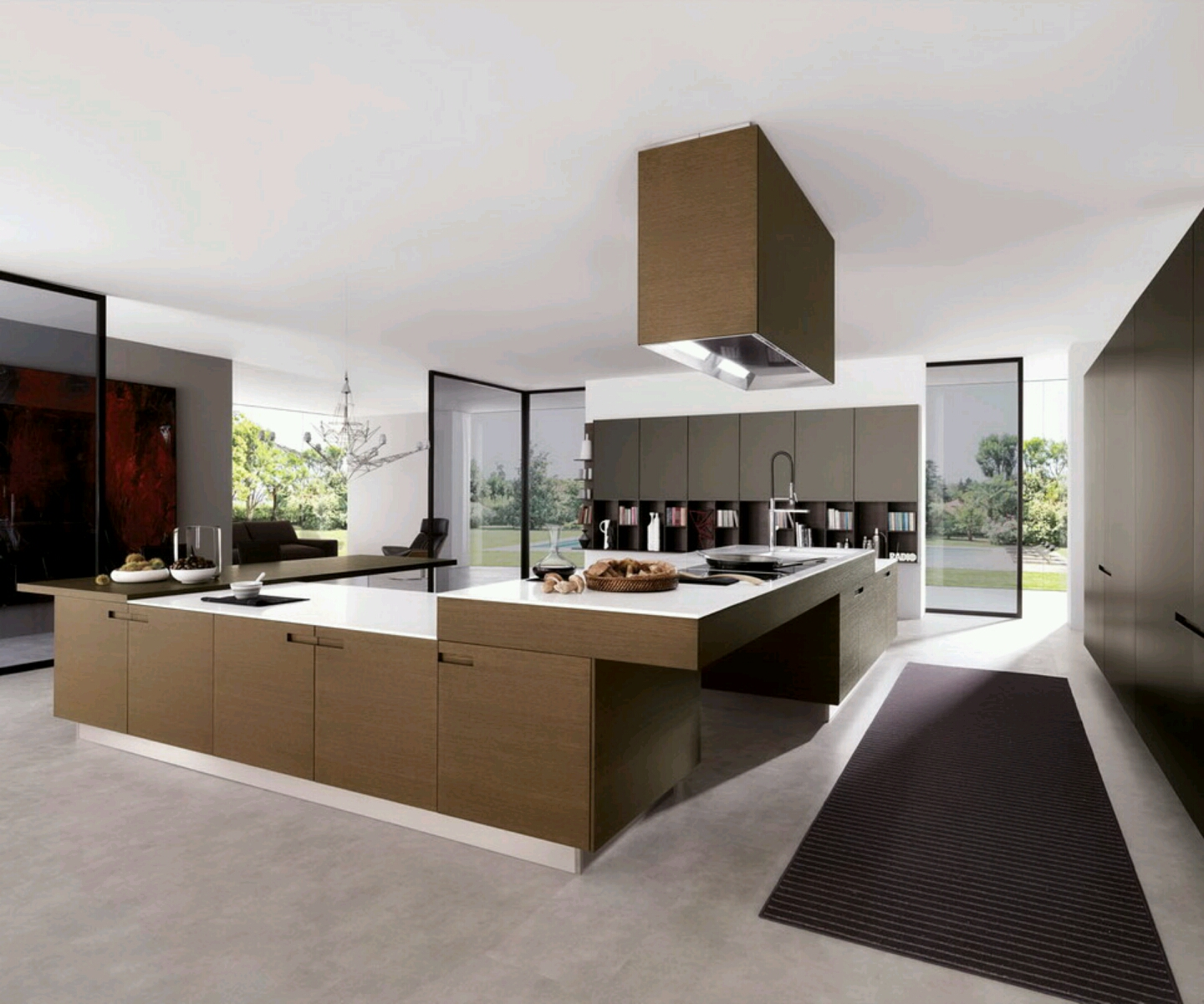 New home designs latest modern kitchen cabinets designs for Contemporary kitchen units