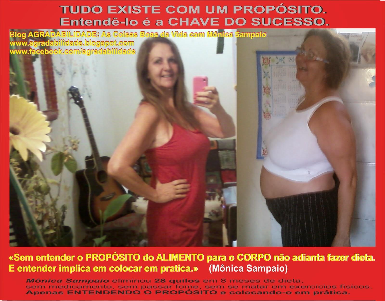 Projeto de SANTIFICAÇÃO DO CORPO com Mônica Sampaio - Outubro de 2014: MENOS 30 QUILOS!