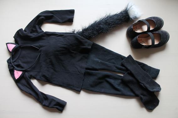 Chica perika disfraz de gato y c mo hacer unas orejitas - Disfraces el gato negro ...