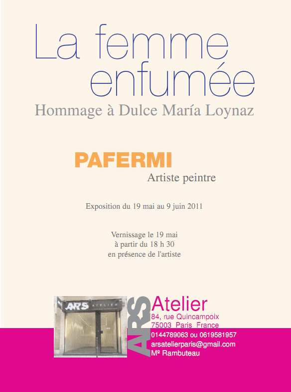 """Expo personal """"La mujer de humo"""""""