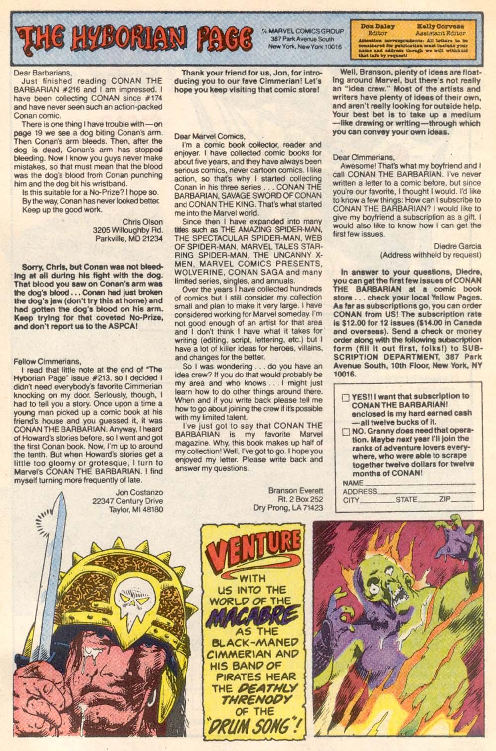 Conan the Barbarian (1970) Issue #220 #232 - English 25