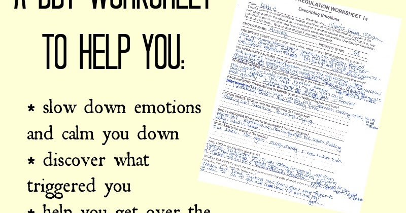 Healing From BPD Borderline Personality Disorder Blog Emotion – Emotion Regulation Worksheet