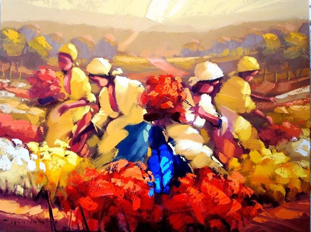 cuadros-mujeres-recogedoras-de-flores