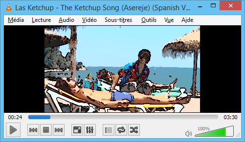 capture d'écran de VLC