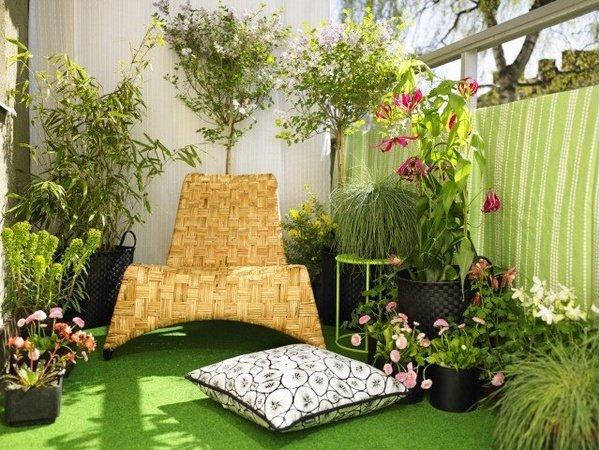 jardin en un pequeño balcón