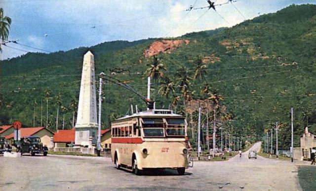 tram berkuasa elektrik di pulau pinang, tram elektrik di penang, tram elektrik di bukit bendera, bas elektrik berhampiran bukit bendera,