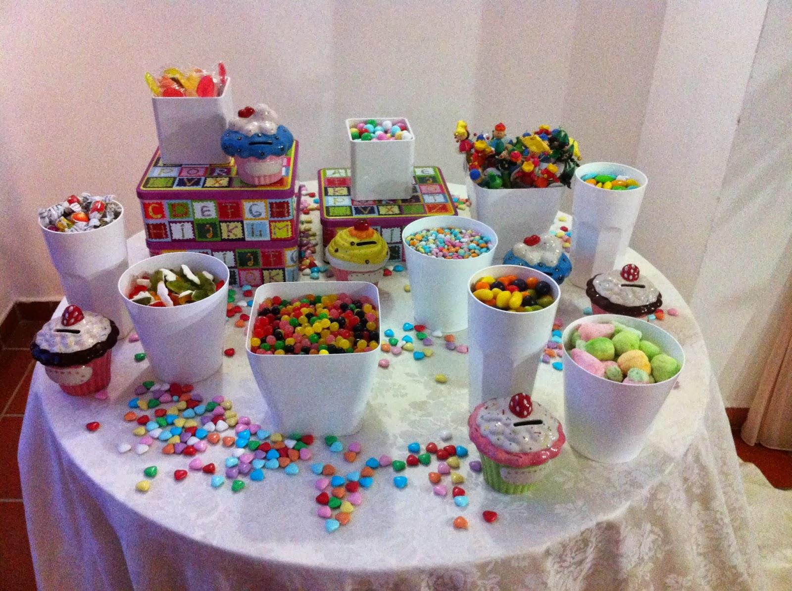 Dolcissimamenthe buffet di confetti e caramelle for Idee per una cena di compleanno