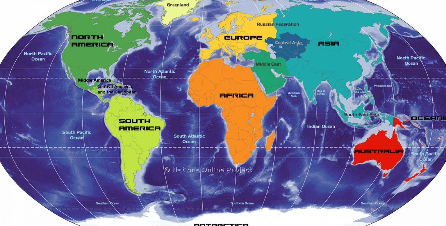 Equator on world map the world map