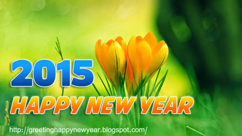 Latest Beautiful Happy New Year 2015 Greeting – Roses Wallpapers