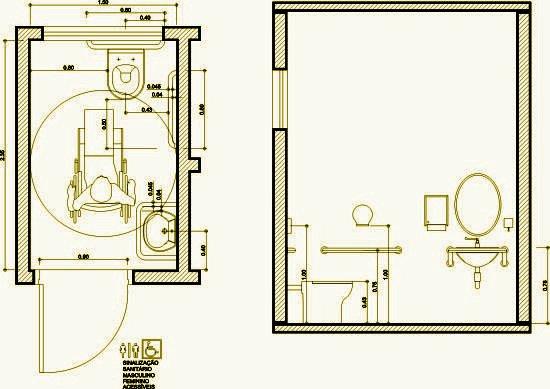 Well-known Banheiro para deficiente (Norma NBR 9050): Criando um banheiro  HH15