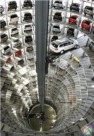 World largest car parking in Germany buildings infrastructure strange Garage Images