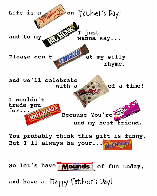 Cute Quotes Cute Sayings Using Candy Bars for Parents