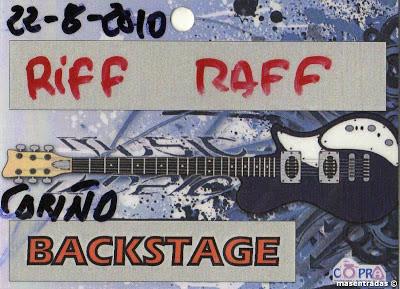 pase backstage del grupo tributa a acdc riff raff