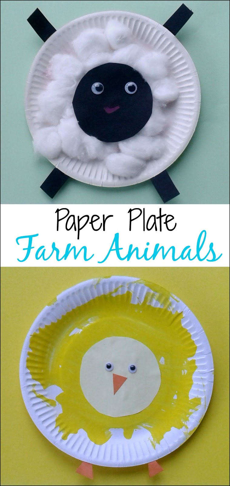 crafts for toddlers   paper plate baby farm animals what a fun spring