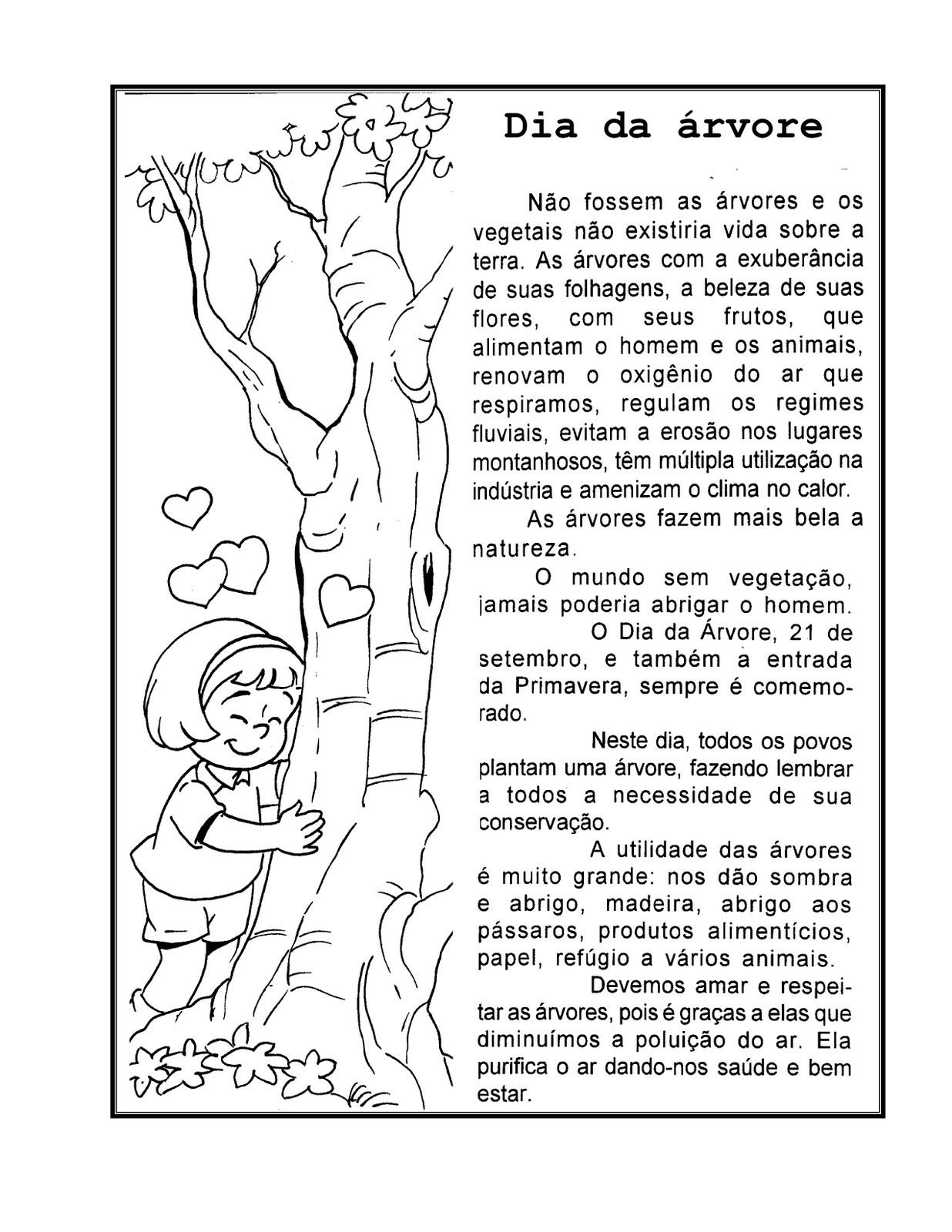 Favoritos Ensinando com Carinho: Atividades para trabalhar o dia da árvore QU35
