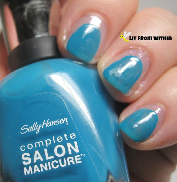 For the hippo's face, I used Sally Hansen Salon Please Sea Me