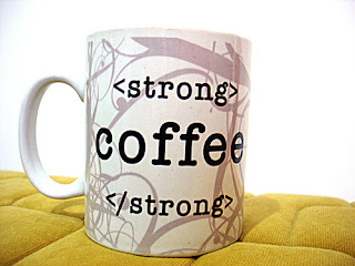 """<strong> coffee <strong>"" may be required"