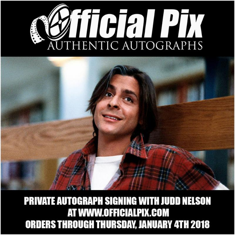 Judd Nelson Private Signing with Official Pix