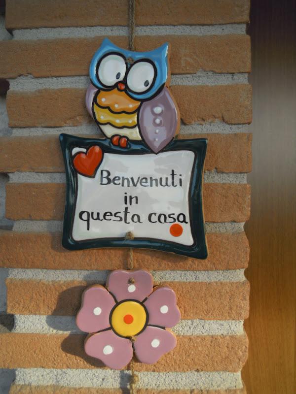 Ceramica come mestiere bellissimo e simpatico gufo da - Cuore da appendere alla porta ...