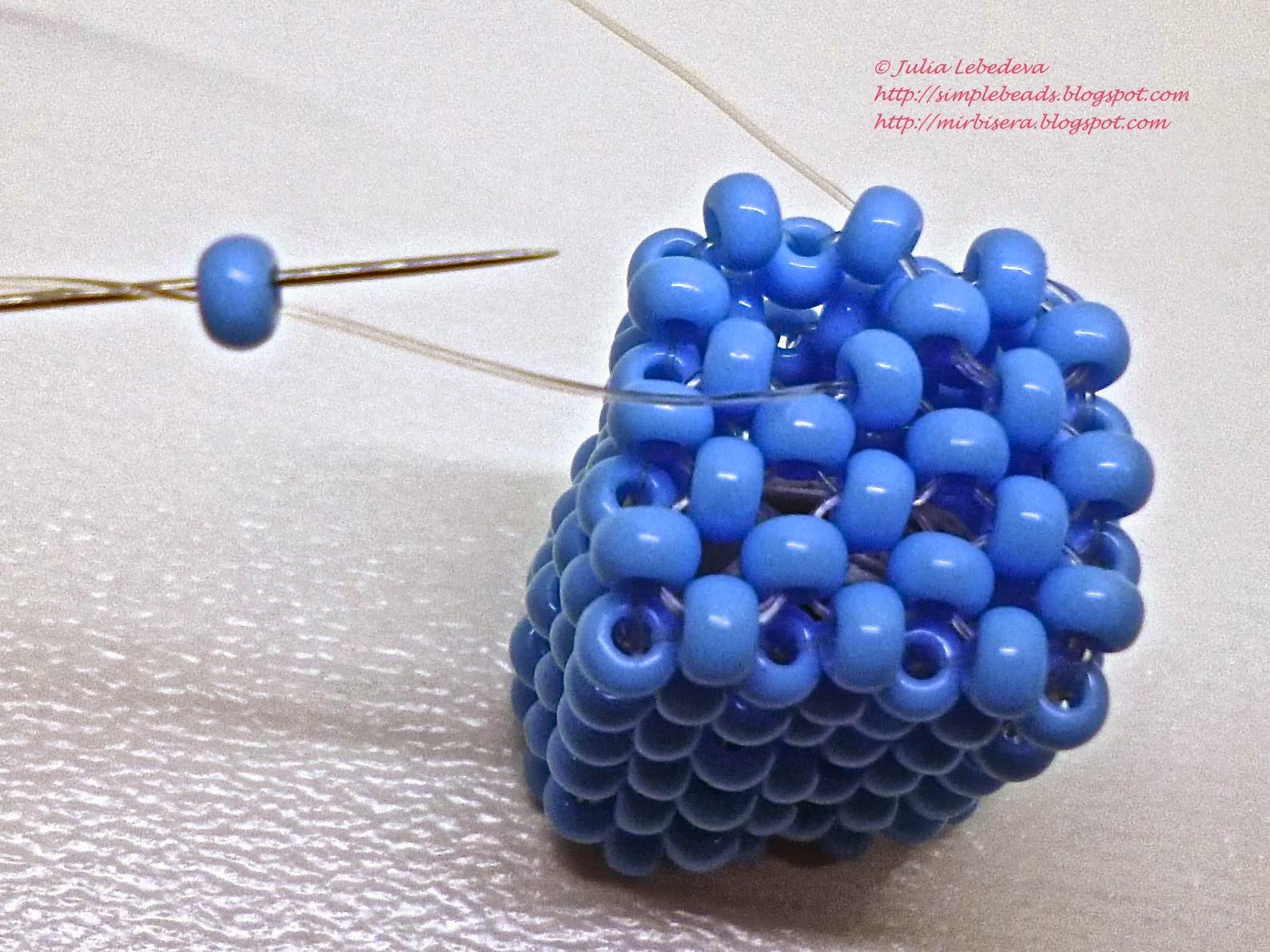 Бисерное плетение в крестик