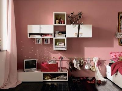 dormitorio adolescente rosa negro