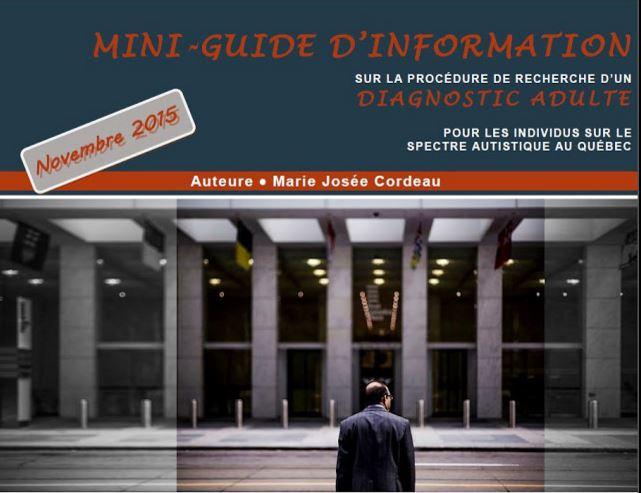 Mini-guide d'information sur la procédure de recherche d'un diagnostic adulte au Québec