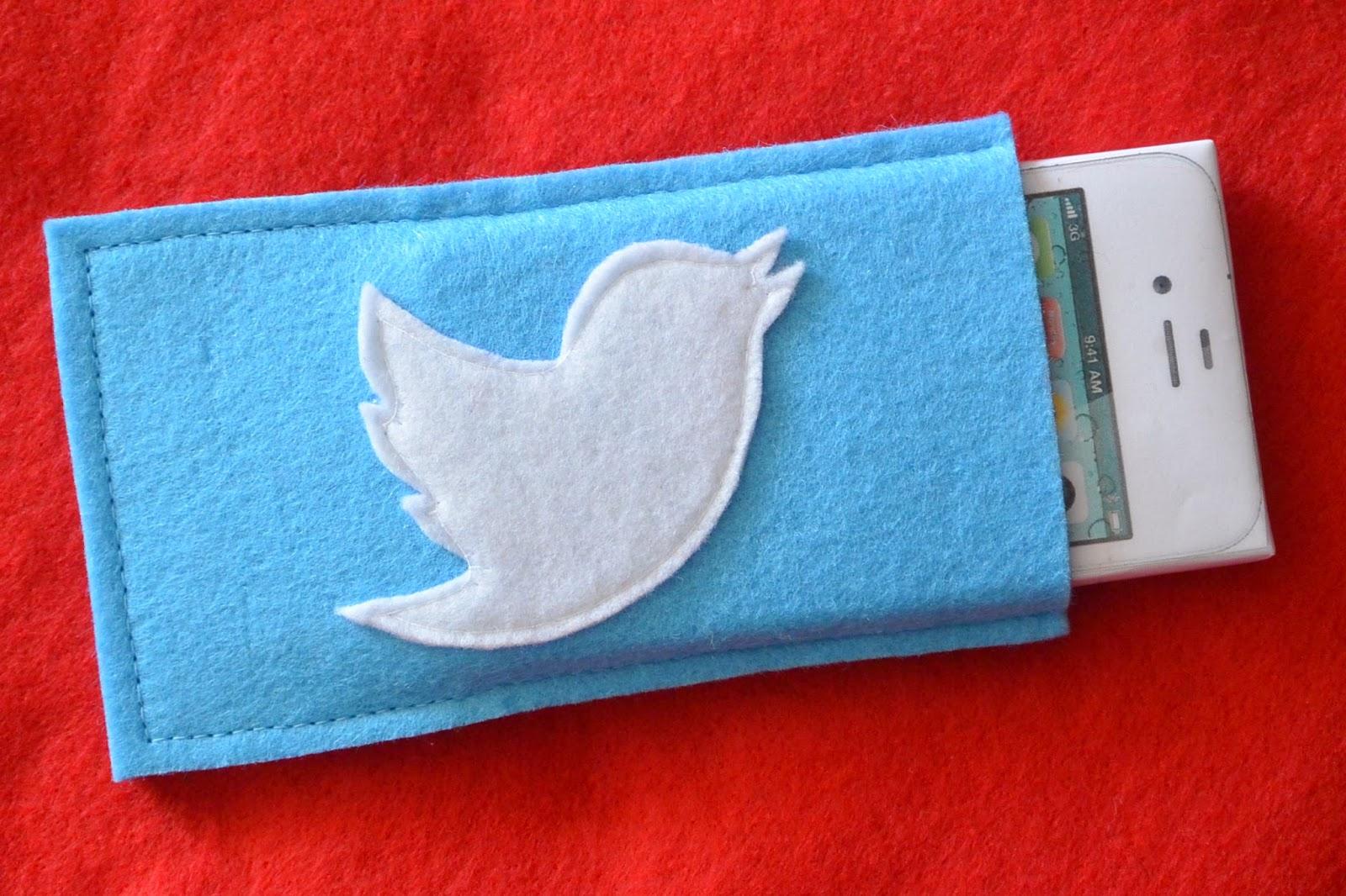 Housse en feutrine Twitter pour votre iPhone