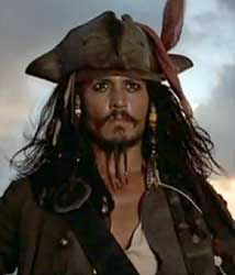 Capitão Jack Sparrow - Piratas do Caribe