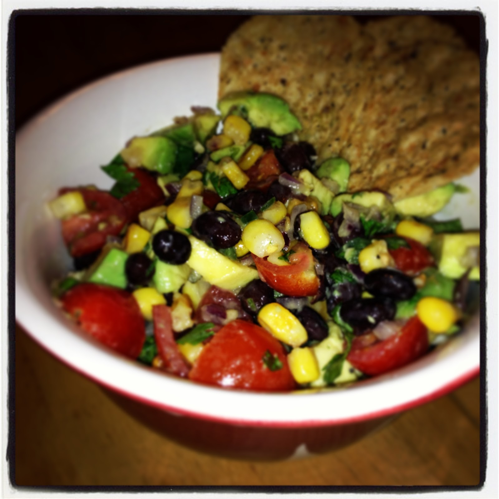 Black Bean, Roasted Corn & Avocado Salsa - I Don't Go to the Gym