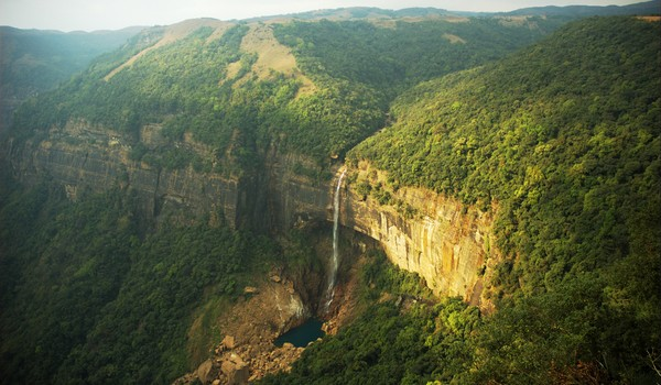 Cascadas Nohkalikai, Cherrapunjee, Meghalaya, India