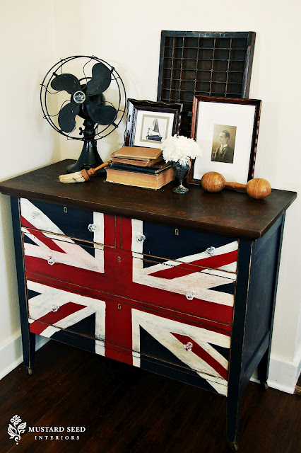 If You Re Willing To Put In A Little Elbow Grease Check Out These Amazing Union Jack Diy Projects Including A Union Jack Dresser Painted By Miss Mustard