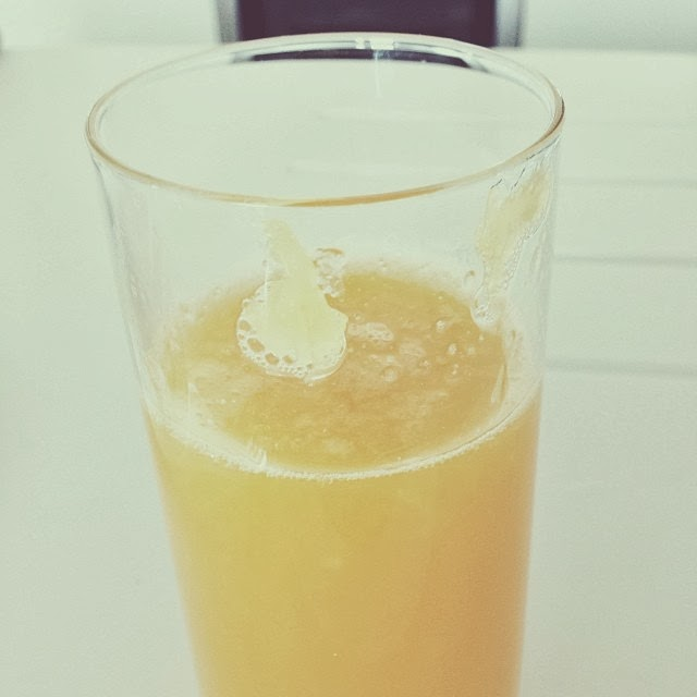 homemade fresh orange juice