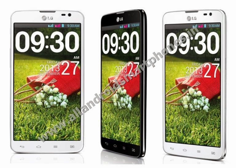 LG Pro Lite Dual D686 Dual Sim Android 3G Phablet Black White Front Side Images Photos Review