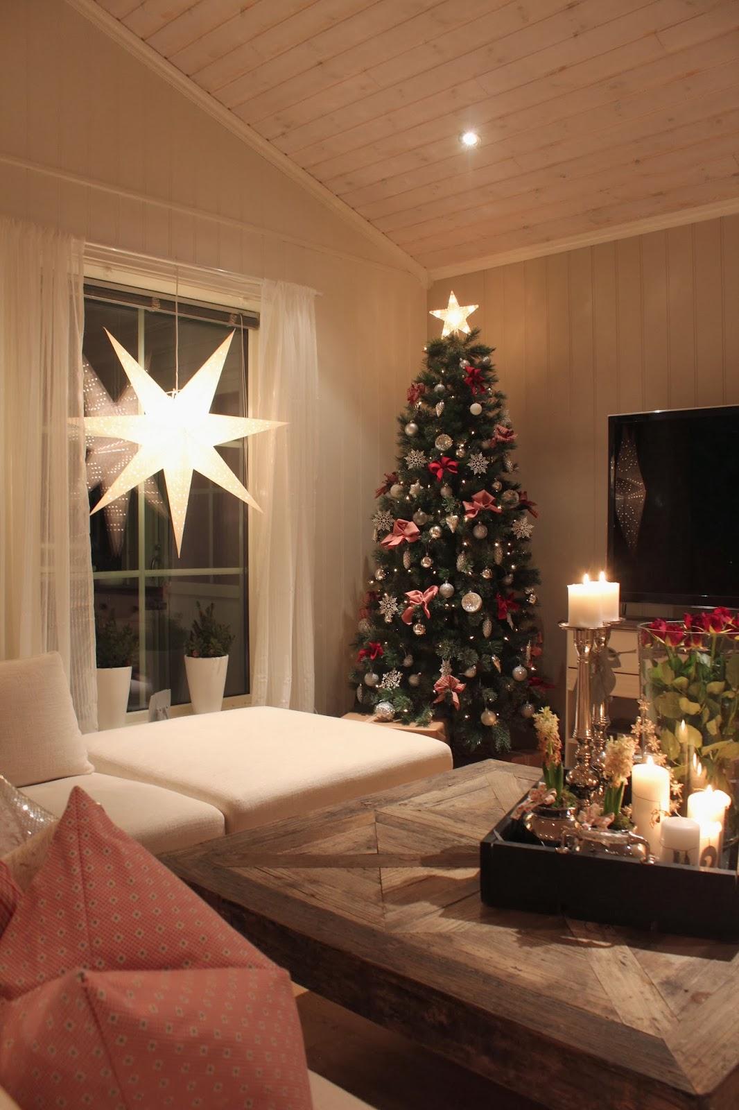 Lindevegen: Da var juletreet kommet opp:)