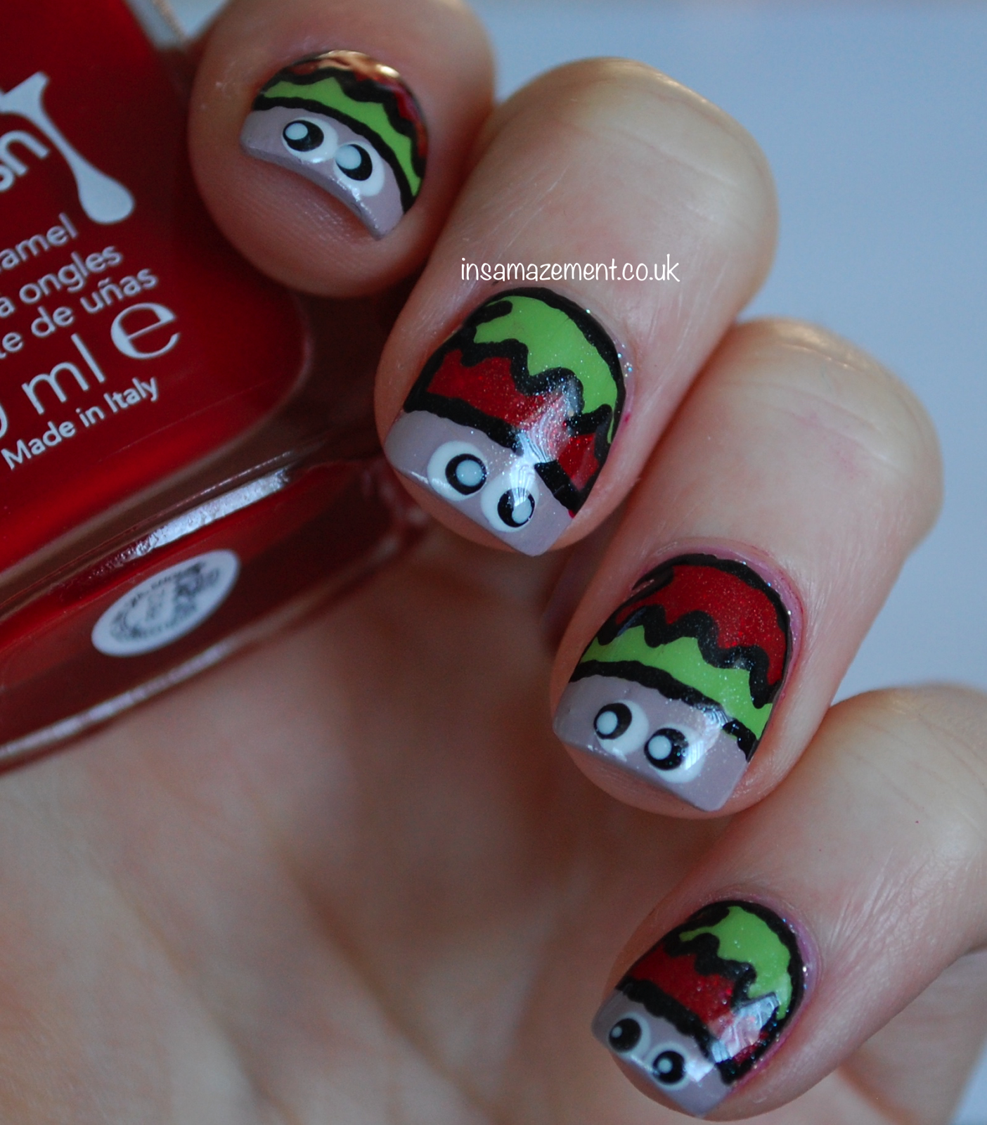 Christmas Nail Designs Tutorial: In SAMazement: Christmas Elf Nail Art Tutorial