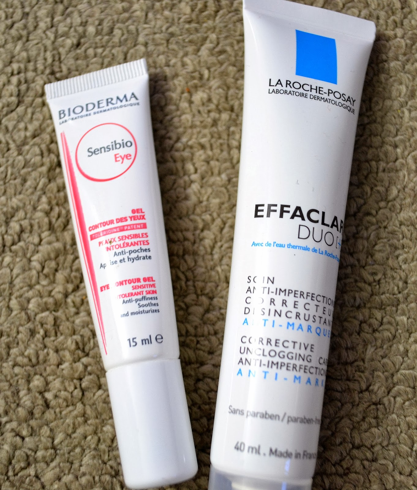 Morning Skincare Routine - la roche posay effaclar duo+, bioderma sensibio eye cream - Beauty by Eff