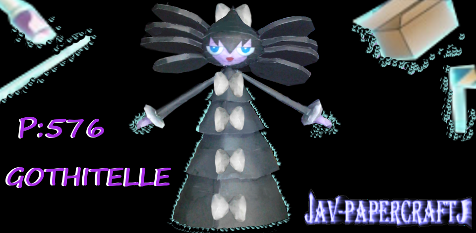 Pokemon Gothitelle Papercraft